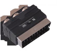 Переходник SCART - 3гн.RCA (с переключателем) REXANT