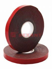 Двухсторонний скотч, красного цвета на серой основе, 6мм, 5метров REXANT