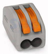 222-412 Универсальная многоразовая 2-проводная клемма (0,08-2,5 (4) мм2) 50шт. WAGO