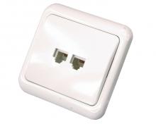 Телефонная розетка внутренняя - 2 6P-4C (2 порта) REXANT