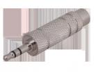 ПЕРЕХОДНИК штекер 3.5мм стерео - гнездо 6.3мм стерео (металл) REXANT