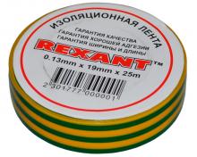 Изолента 19мм х 25м желто-зеленая REXANT