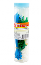 Набор хомутов цветных пластиковых НХ-1 REXANT
