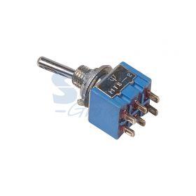 Двухполюсный тумблер 250V 3А (6c) ON-ON Micro (MTS-202)